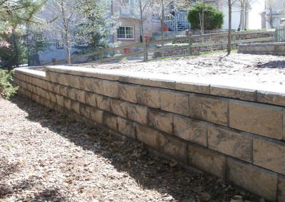 Custom Block Retaining Wall