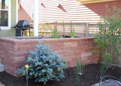 Raised Stripstone Planter, Ornamental Bed Spaces, Outdoor Room
