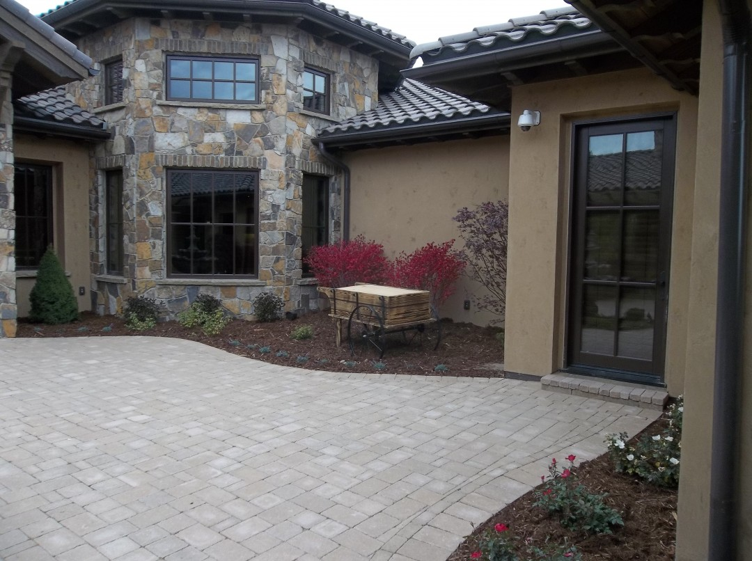 Paver Patio, Ornamental Bed Spaces, Curb Appeal