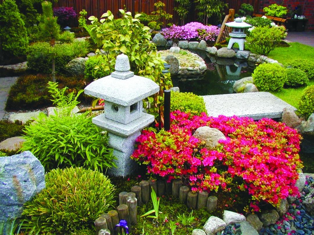 Zen Garden, Eastern Design, Custom Water Feature, Outdoor Room, Ornamental Plantings