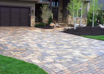 Paver Driveway, Paver Walkway, Ornamental Planting Beds, Curb Appeal