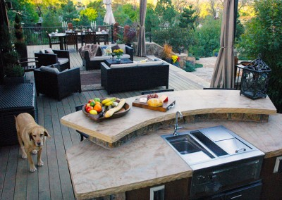 Outdoor Living Space, Bar Top, Outdoor Kitchen, Hardwood Deck