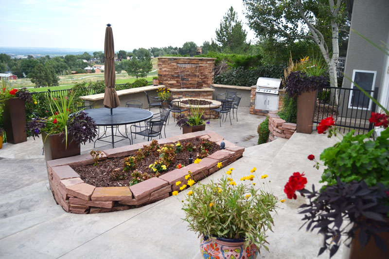 Patio with Fire pit - FIRE PITS Archives - Denver Landscapes