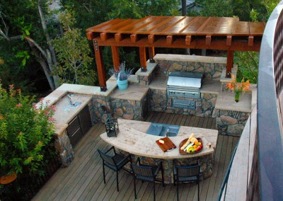 Outdoor Living Space, Outdoor Kitchen, Pergola, Hardwood Deck