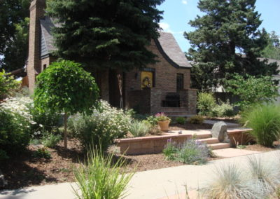 Curb Appeal, Retaining Wall, Custom Boulder Wall, Concrete Path, Ornamental Planting Bed