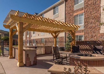 Outdoor Room, Fire Pit, Outdoor Kitchen, Pergola, Commercial Design