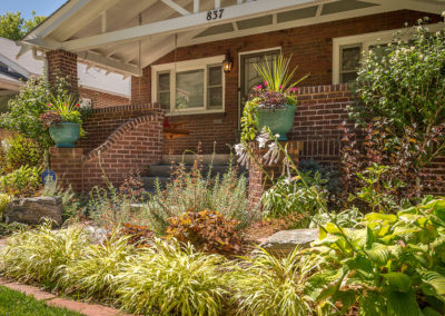 Ornamental Planting, Foundation Planting, Curb Appeal, Hostas, Japanese Forest Grass, Sunset Hyssop, Container Garden