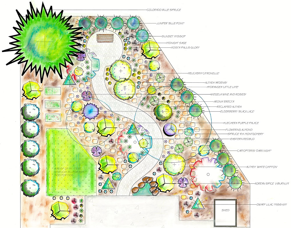 Colored site plan