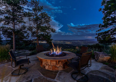 Firepit with city view